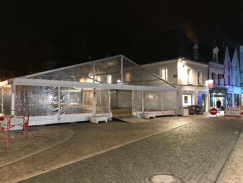 chauffage dans un chapiteau à Amboise et Tours | JST Events