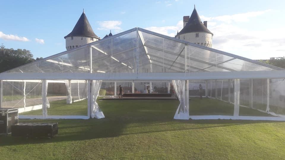 différentes caractéristiques du chapiteau en verre à Amboise et Tours   JST Events